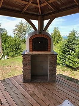Amazon.com: Ladrillo Horno de pizza, aislado, madera ...