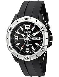 Casio Mens MTD1082-1AV Super Illuminator Analog Black Resin Watch