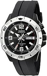 Casio Men's MTD1082-1AV Super Illuminator Analog Black Resin Watch