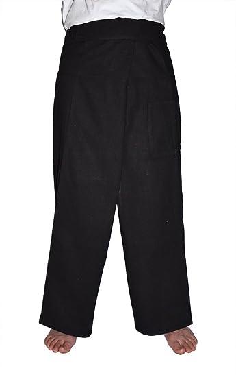 4ebcf62932e MangoNest Men s and Women s Unisex Thai Fisherman Pants-Black at Amazon  Men s Clothing store  Yoga Pants