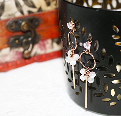 usongs Angie house 925 needles Sen Department small fresh flash diamond opal necklace pendant earrings special goddess Korea
