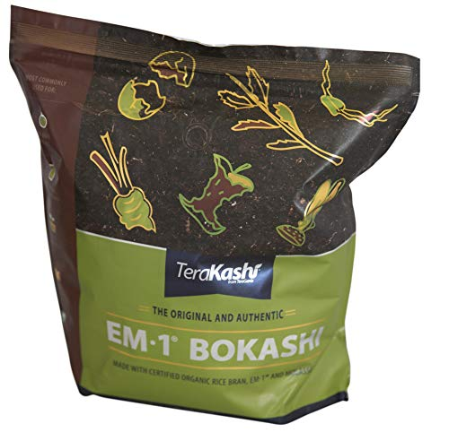 TeraGanix Bokashi EM-1 Organic Rice Bran Mix | 5lbs. - Dry Powder to Compost Food & Pet Waste Indoors for Better Planting Soil