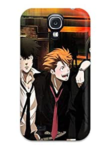 Defender Case With Nice Appearance (brunettes Pants Streets Suit Tie Belts Outdoors Shortsmiling Blush Shirts Open Mouth Drunk Anime Boys Closed Grayhiteorangemechanical Arm Looking Back Scans Psycho-pass Kougami Shinya Ginoza Nobuc) For Galaxy S4