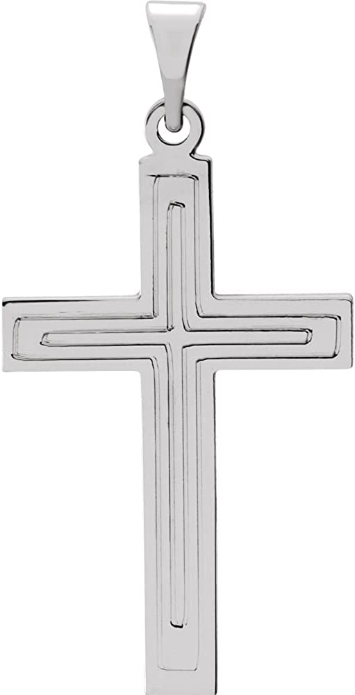 Jewels By Lux 14k White Gold 22x14mm Cross Pendant