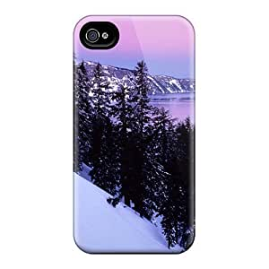 Special Wade-cases Skin Case Cover For Iphone 4/4s, Popular Winter Mountain Phone Case