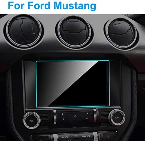 LUVCARPB カーナビゲーションスクリーンプロテクター、フォードマスタング2015-2020に適合、8インチ9H強化ガラスディスプレイ透明保護