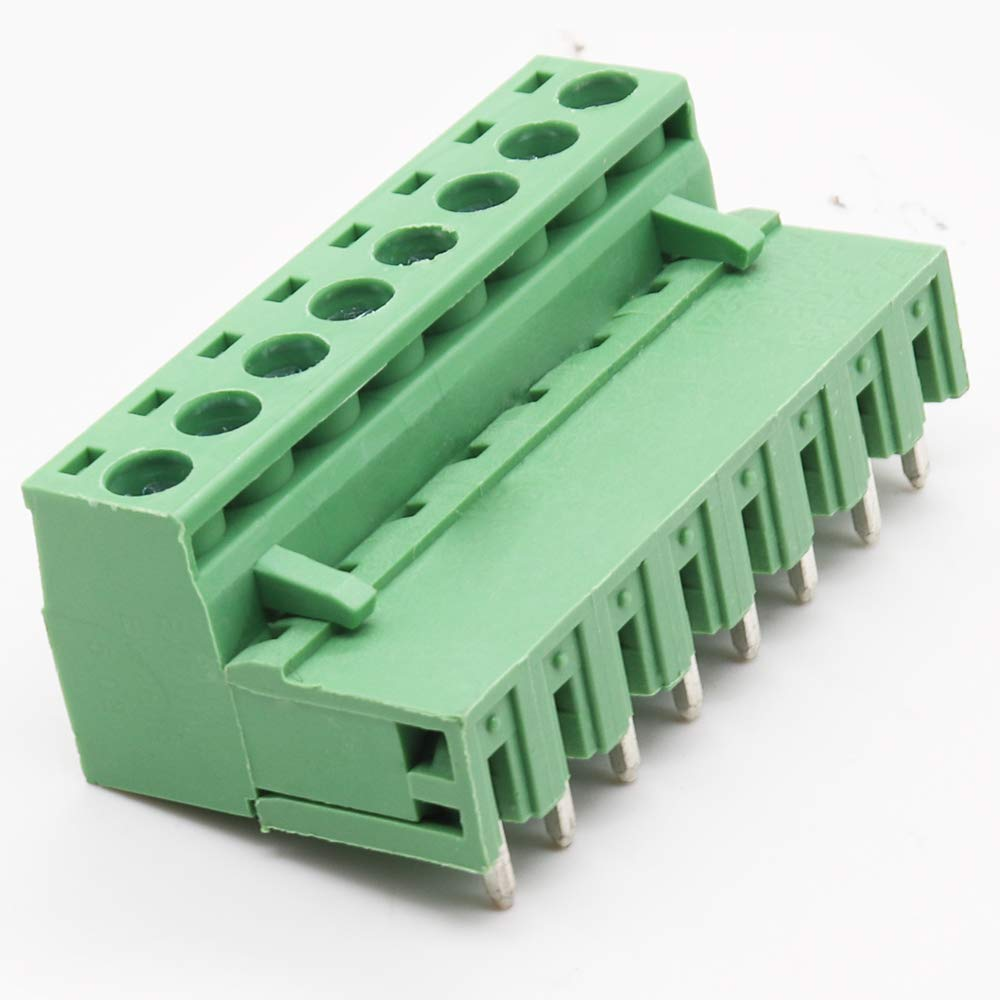 AC 300V 10A,5.08mm Pitch,Plug-in Type PCB Mount Screw Terminal Block Kit YILEGOU 15 Pairs 8 Pin Right Angle for Arduino PCB Shield