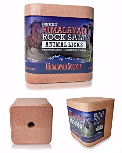 5.5 LB Compressed Himalayan Salt Lick For Horse, Cow, Goat, etc. Made From Specially Selected Higher Quality Himalayan Salt – Evenly Distributed Minerals – 100% Pure & Natural