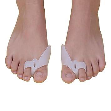 ZHOUBA 2 piezas de silicona para juanetes, corrector ortopédico, alisador separador de alivio del dolor: Amazon.es: Belleza