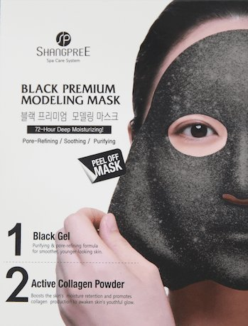 Shangpree - Black Premium Modeling Mask - Anti Aging Mask with Charcoal & Collagen - Moisturising & Rejuvenating Masks