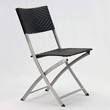 Incredible Amazon Com Folding Chairs Steel Construction Rattan Perfect Evergreenethics Interior Chair Design Evergreenethicsorg