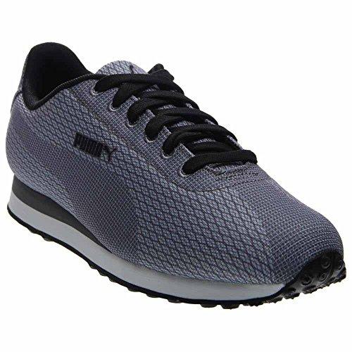 Puma Heren Turin Geweven Print Enkelhoge Stof Fashion Sneaker Lime Grijs-staal Grijs-zwart