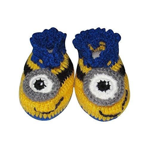 4d5df885c Minion Baby Booties - Crochet Baby Booties, Leg warmers for Newborn ...