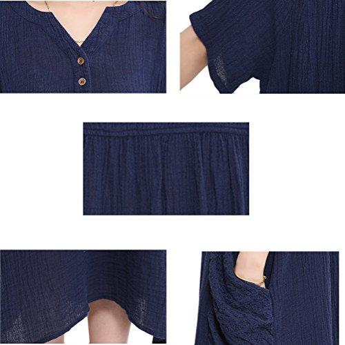 Voguees - Bata - suéter - Manga corta - para niña azul oscuro
