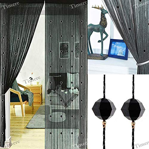 Timere Crystal Beaded Curtain Tassel Curtain - Partition Door Curtain Beaded String Curtain Door Screen Panel Home Decor Divider Crystal Tassel Screen 90x200cm -