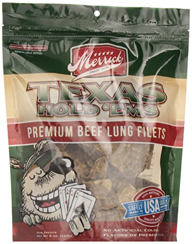 Merrick Texas Hold 'ems Beef Lung Filets, 8 Ounces