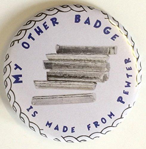 Harpe fabriqué à la main en étain anglais Pin's (épinglette Badge + 59MM Badge + Sac cadeau
