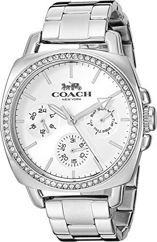 COACH Women's Boyfriend Silver One Size (Womens Coach Watches Silver)