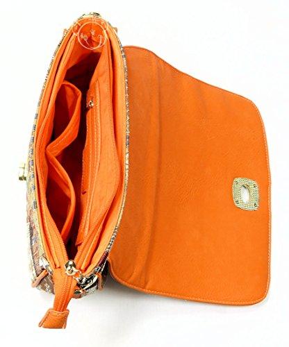 Victoria Tapestry - Sac convertible à main ou à épaule Nina - Ville (Style Gobelin)