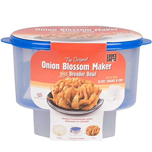 The Original Breader Bowl- All-in-One Mess Free Batter Breading at Home or On-the-Go Blooming Onion Cutter