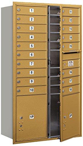 Salsbury Industries 3715D-18GFU 4C Horizontal Mailbox, Gold
