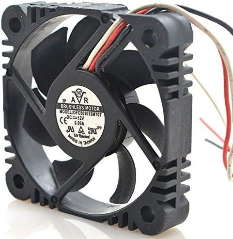 Original FOR DFC501012M70T 12V 0.09A 50105CM 3-wire super-silent cooling fan