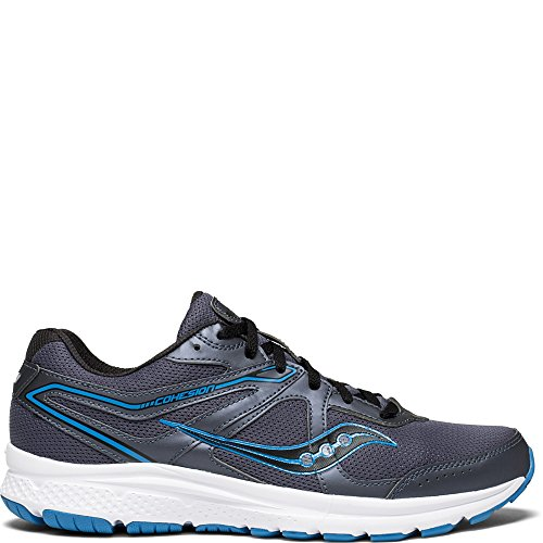 Saucony Men's Cohesion 11 Running Shoe, Grey/Blue, 10.5 Medium US