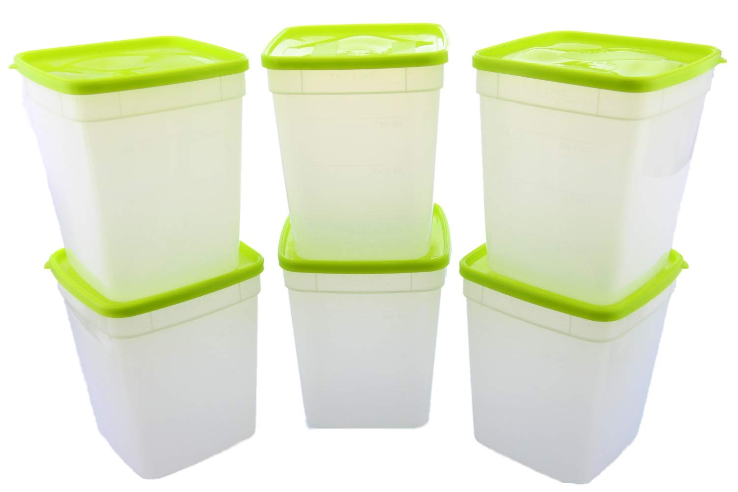 Arrow Plastic 1-Quart Freezer Containers, 3-Pack - Set of 2 (Total 6 Containers)