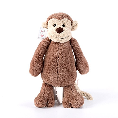 COFFLED Cute Animal Stuffed Monkey Toys for Bedtime Pillow; Super Soft Plush Toys for Baby Birthday Christmas Shower Gift 15.5 Inch,12 (Where To Buy Big Teddy Bears)