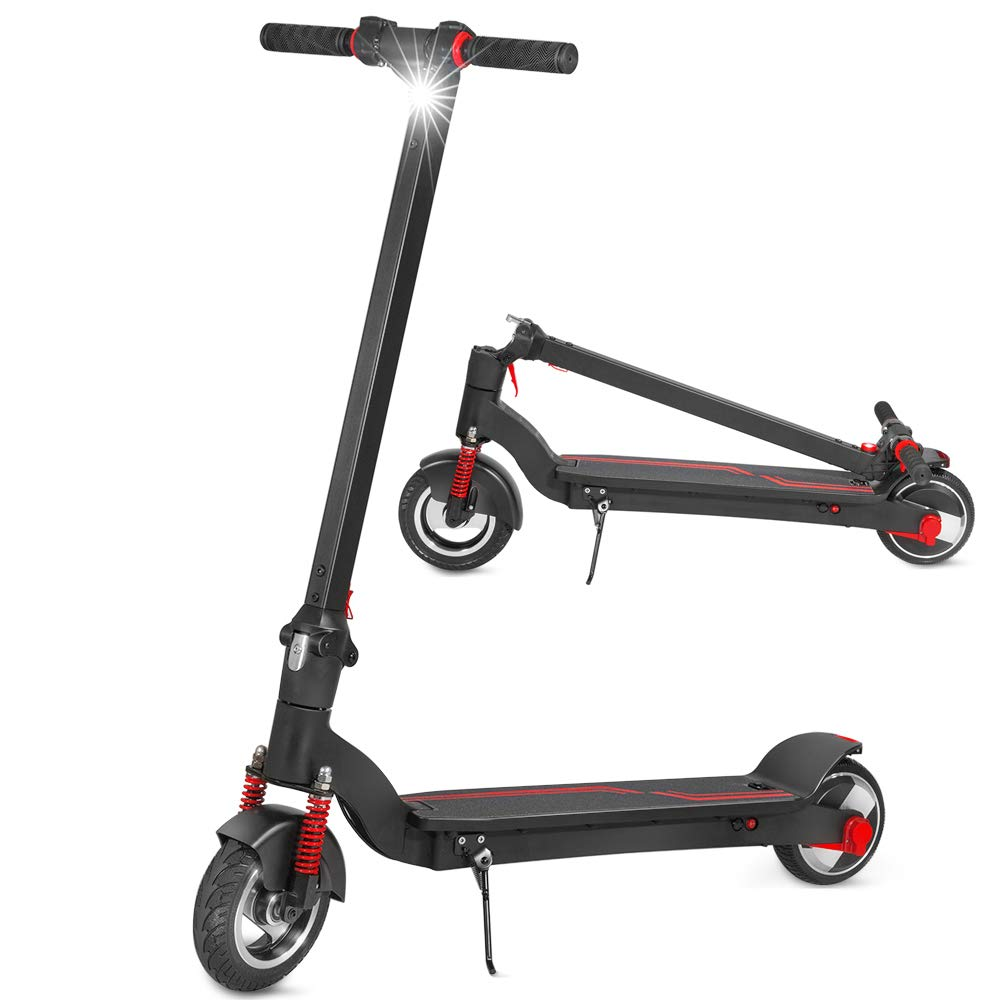XPRIT 8'' Electric Scooter with Shock Absorbers, Up to 13 Miles Range, Commuting Scooter (Black) by XPRIT