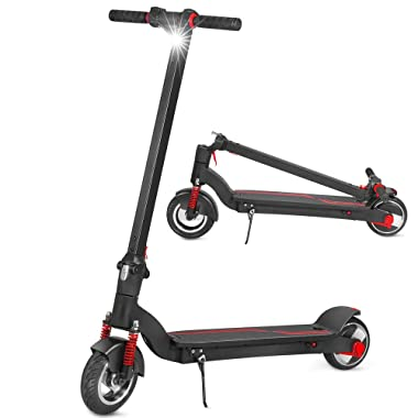XPRIT 8  Electric Scooter with Shock Absorbers, Up to 13 Miles Range, Commuting Scooter (Black)