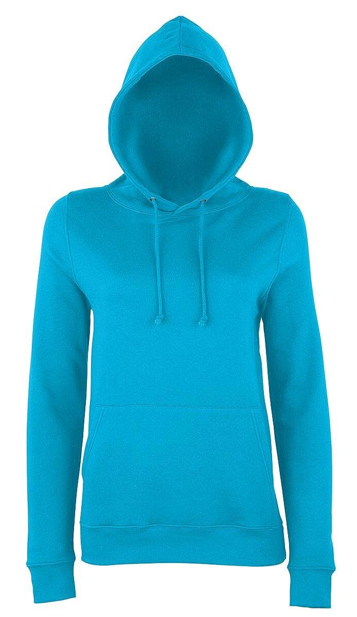 AWDis Hoods Womens Ladies Girlie College Hoodie Turquoise