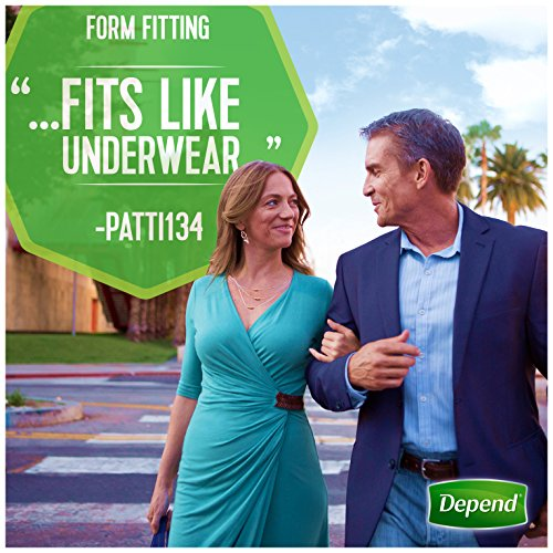 Depend FIT-FLEX Incontinence Underwear for Women, Maximum Absorbency, S/M, 60 Count