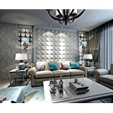3d wall treatments diy wedecor decorative antishock soundproofing carved faux leather tile soft 3d wall panelspack of 20 40x40cm3444 sq ft pillow matte white amazoncom wedecor panels painting supplies