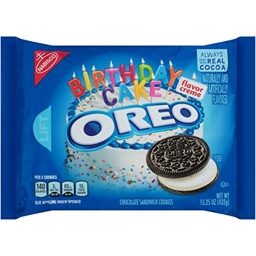 (Oreo Birthday Cake Chocolate Sandwich Cookies, 15.25 Ounce (Pack of 12))