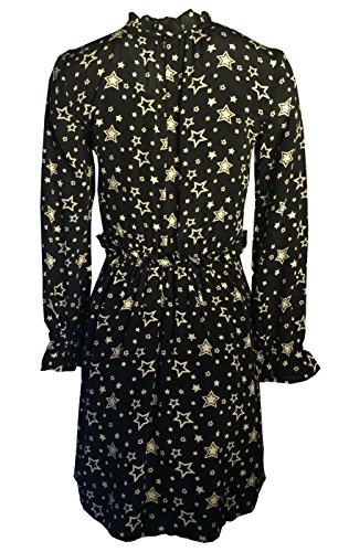 Kleid Frau Milano Sterne Ana 100 Sterne Pires Rose Seide Flora oder liniert Schwarz xIvv5wZ