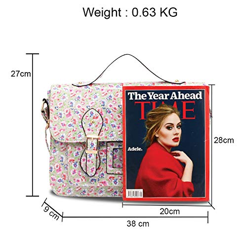 Quality High Beige Handbag Design Girls For Shoulder New Satchel Women Bag Floral Boys Crossbody School 1 7PTqZFxz