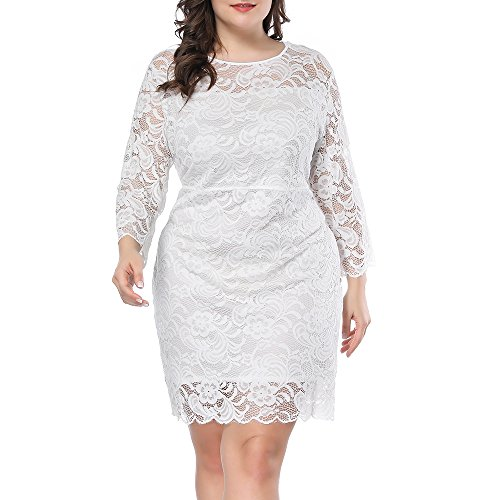 Prior Jms Womens Plus Size Lace Mini Dress Wedding Dresses Off Shoulder Vintage Floral for Cocktail Party Gown Dress -