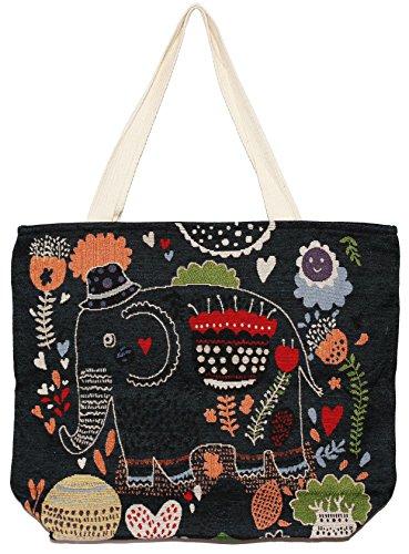 Handle Tote E125 Bohemian Shoulder Big Size Bag Hippie Handbag Top Elephant PCZwagq