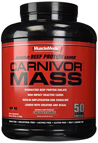 - Muscle Meds Carnivor Mass Chocolate Fudge - 5.99 lbs