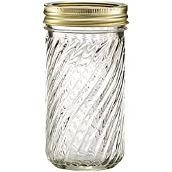 Glass Jelly Jars with Lids and Bands, Set of 12 (12 oz) (Other Sizes and Designs Available)