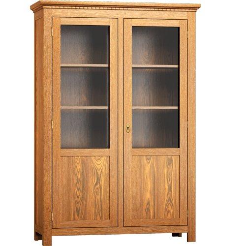 Glasvitrine - massiv Holz Kiefer - Wohnzimmer Vitrine 200/120/44 - Weiß matt