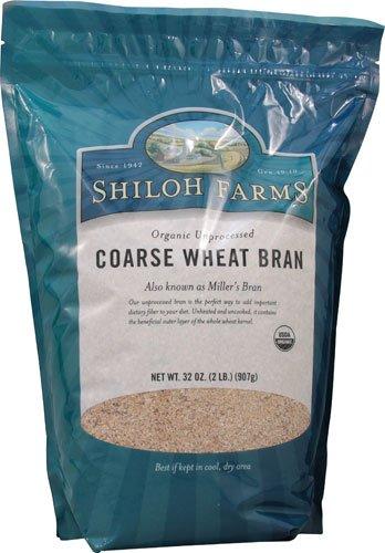 Shiloh Farms Organic Coarse Wheat Bran Unprocessed -- 32 oz - 2 pc