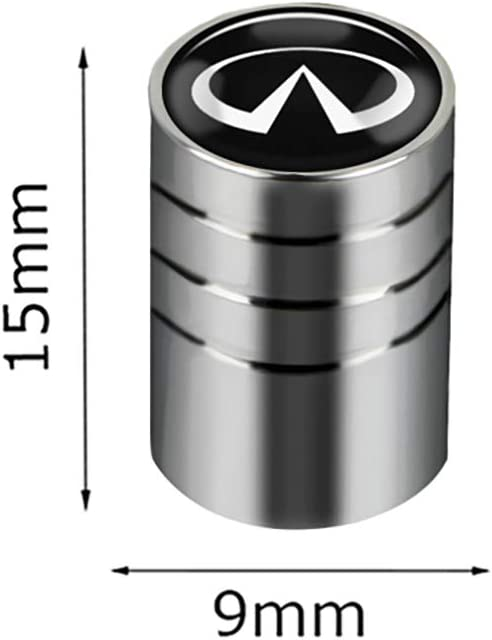 NA 4 Piezas Tapas de v/álvula de neum/ático de Coche Cubierta de protecci/ón de Acero Inoxidable para Infiniti FX35 Q50 Q30 ESQ QX50 QX60 QX70 EX JX35 G35 G37