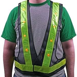 Stalwart 75-SW2LED Hawk Super Bright 16 LED Flashing Safety Vest
