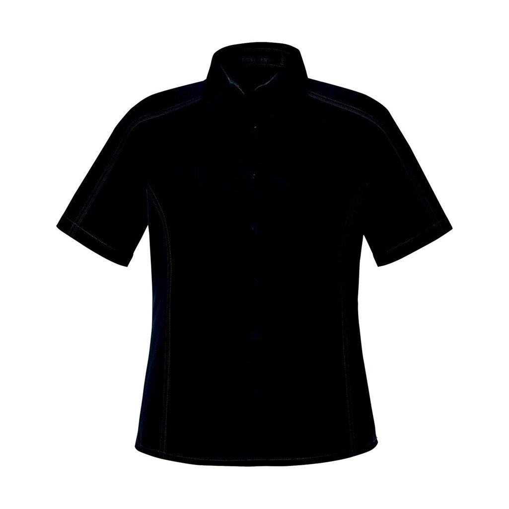 Ash City Ladies Fuse Color Block Twill Shirt (Small, Black/Carbon)