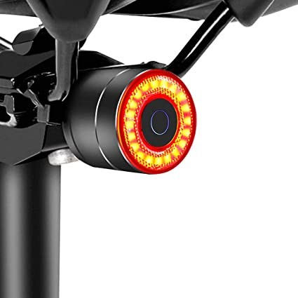 Details about  /Smart Bike Tail Light LED Bicycle Rear Light Waterproof Rechargeable Auto On//Off