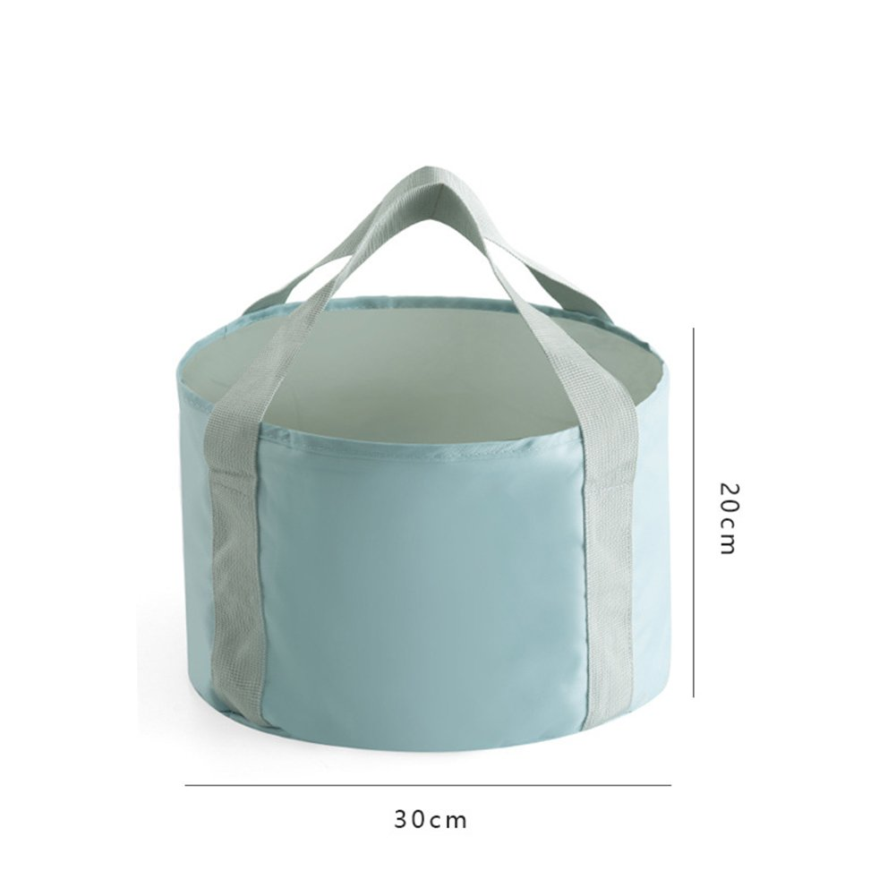 vinmax Collapsible Bucket Compact Portable Folding Water Container Multifunctional Collapsible Portable Travel Outdoor Wash Basin Folding Bucket (Blue)