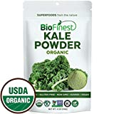 Biofinest Kale Vegetable Powder - 100% Pure Freeze-Dried Antioxidants Superfood - USDA Certified Organic Vegan Raw Non-GMO - Boost Digestion & Skin Care - Smoothie Beverage Blend (4 oz Resealable Bag)