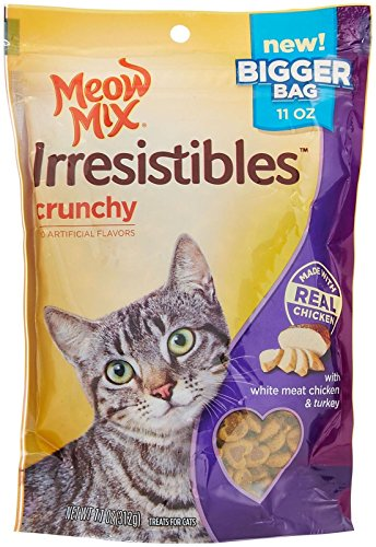 Meow Mix Irresistibles Crunchy Treats For Cats White Meat Chicken & Turkey